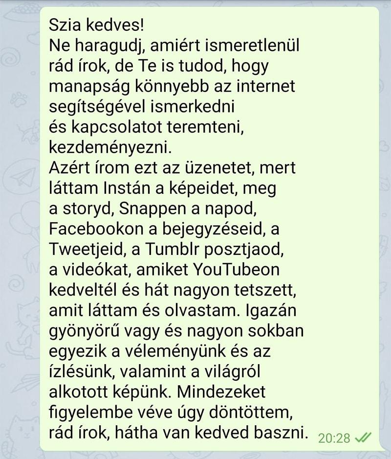 társkereső texte vicces)